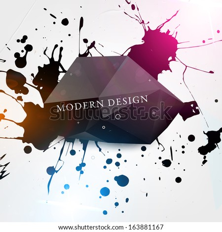 Abstract modern frame for business futuristic design, eps10 vector illustration - stock vector