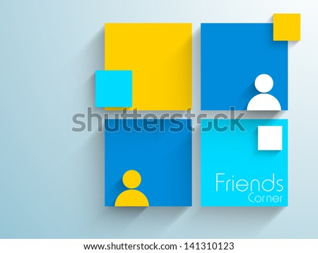 Abstract modern friendship day background. - stock vector