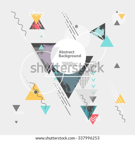 Abstract modern geometric background - stock vector