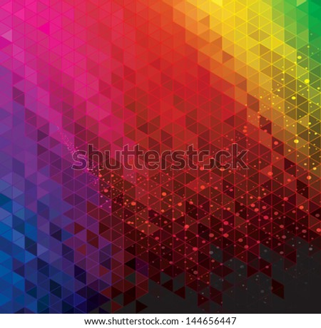 Abstract modern geometric colorful background. - stock vector