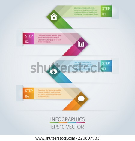 Abstract modern infographics template with icons - stock vector