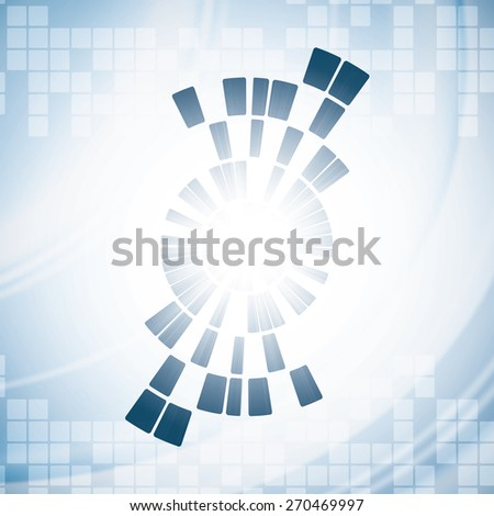 Abstract modern technology background  - stock vector