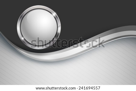 abstract modern vector background with web button. Eps10 - stock vector