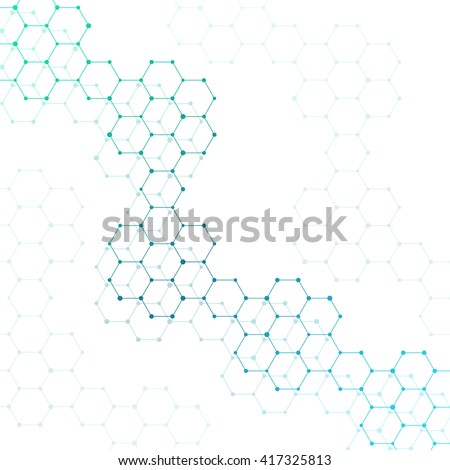 Abstract molecule. Background molecule. Molecule structure. Connection molecule. DNA structure. Abstract DNA. Background DNA. Abstract atom. Background atom. Structure atom. Atom. Vector illustration. - stock vector