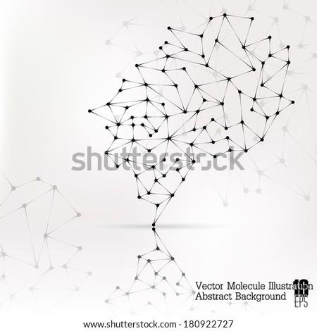 Abstract Molecule / DNA / Background eps 10 - stock vector