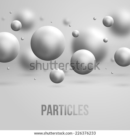 Abstract molecules design. Vector illustration. Atoms. Medical background for banner or flyer. - stock vector