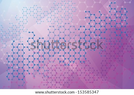 Abstract molecules medical background - stock vector