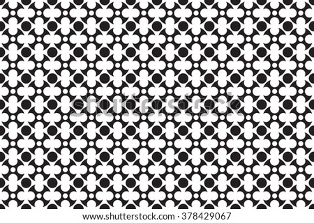 Abstract monochrome pattern with circle shapes. Geometric repeatable background - stock vector