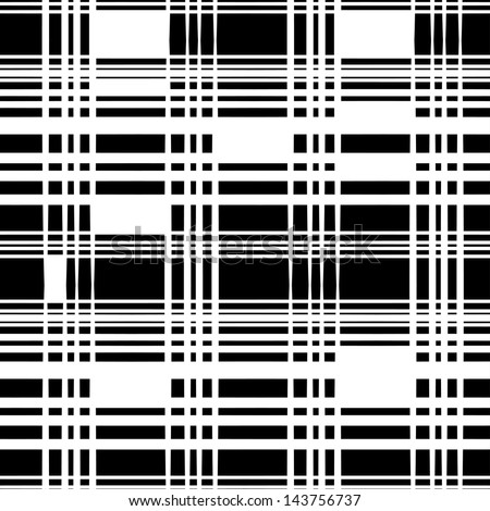 Abstract monochrome striped seamless pattern - vector - stock vector
