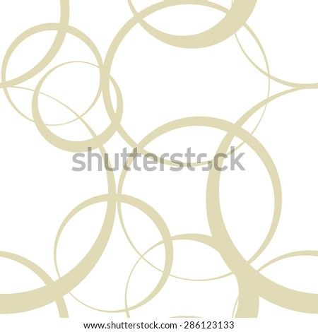abstract monochrome vector seamless wallpaper with circles - stock vector