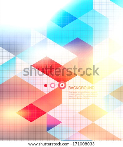 Abstract mosaic background. Blur background - stock vector