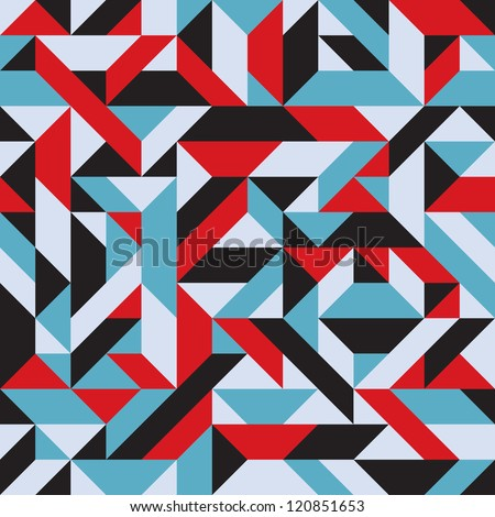 Abstract Mosaic Background - Pop Art - stock vector