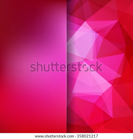 Abstract mosaic background. Triangle geometric background. Design elements. Vector illustration - stock vector