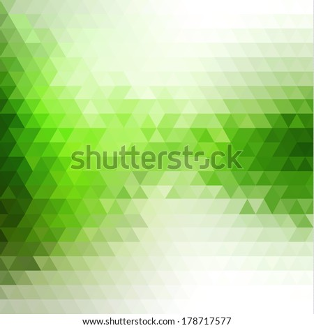 Abstract mosaic flowing triangles background  - stock vector