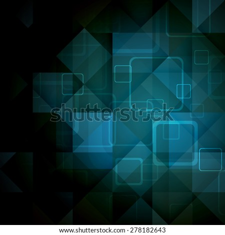 Abstract mosaic hi-tech background. Vector Illustration. Clip-art - stock vector