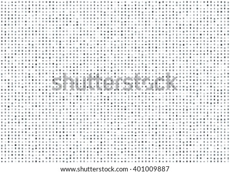 Abstract mosaic out of little gray squares on white background - stock vector