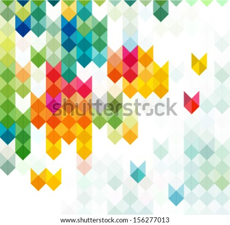 abstract motion & geometric background with arrows - stock vector