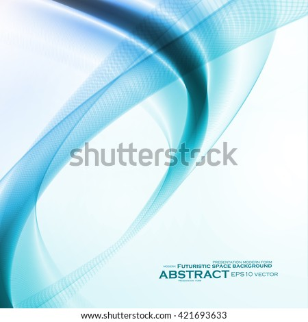 Abstract motion smooth blue, futuristic wavy vector illustration eps10 - stock vector