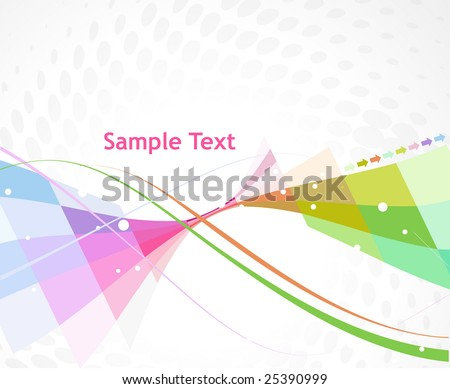Abstract multi color arrow wave line background - stock vector