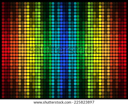 abstract multicolored graphic equalizer vector illustration isolated on black background - stock vector