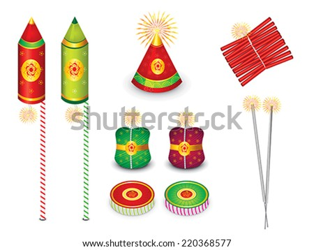 abstract multiple crackers background vector illustration - stock vector