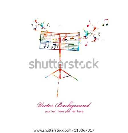 Abstract music background - stock vector