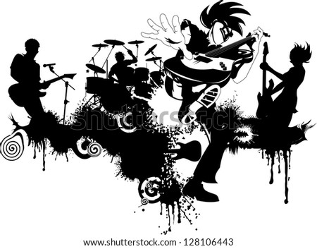 Abstract music background for music event design vector illustration - stock vector
