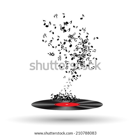 Abstract music background vector illustration for your design. EPS10 - stock vector