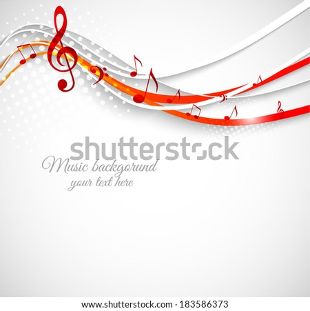 Abstract music background. Wavy vector illustration - stock vector