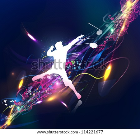 Abstract music dance background for music event design. vector illustration - stock vector