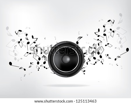 Abstract music retro grunge background - stock vector