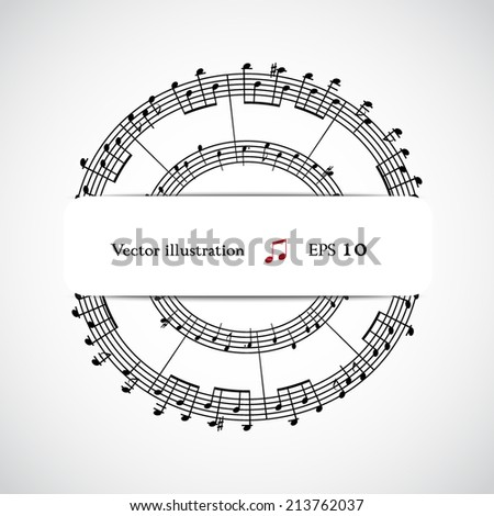 Abstract musical background. Eps 10 vector illustration. - stock vector