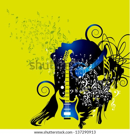 Abstract musical background for music event design - stock vector
