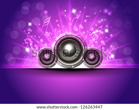 Abstract musical party background. EPS 10. - stock vector