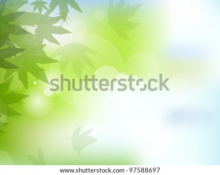 Abstract Nature and Eco related background showing leaves . Vector illustration EPS 10. - stock vector