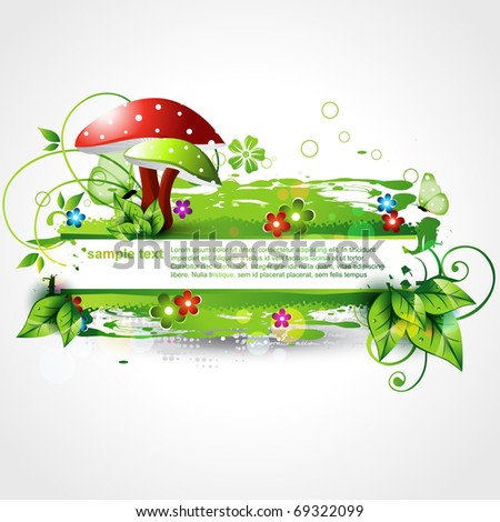 abstract nature background design artwork - stock vector