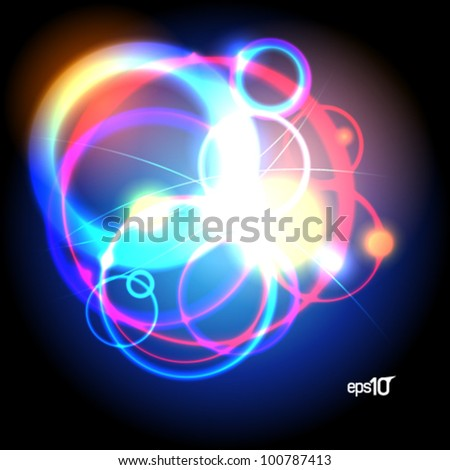 Abstract neon design template. Eps10 Vector. - stock vector