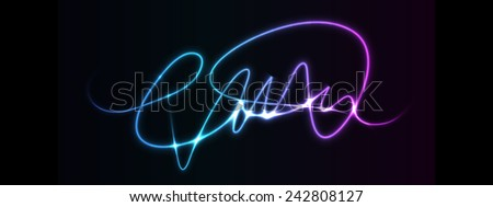 Abstract Neon Lights - Vector EPS10 - stock vector
