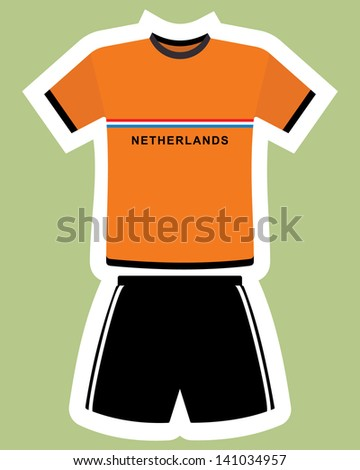 abstract netherlands football jersey - stock vector