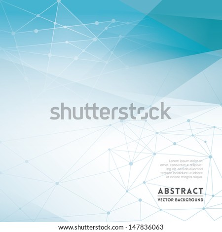 Abstract Network Background for Web Design / Print / Presentation - stock vector