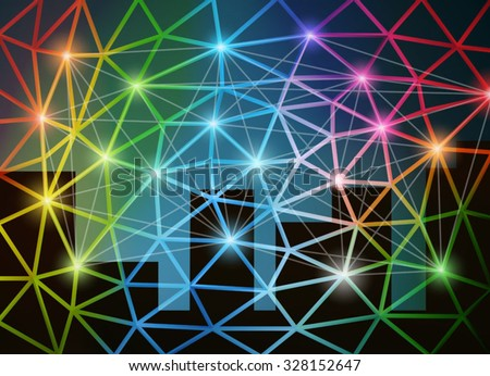 Abstract network background vector illustration. Saved in EPS 10 file with transparencies. All elements are separated, well organized for easy editing. - stock vector