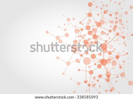 abstract network connection technology background. illustration vector design - stock vector
