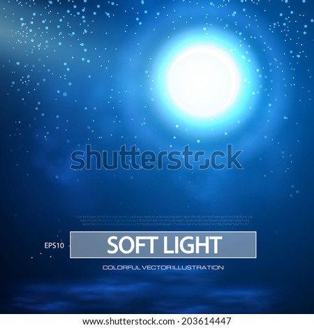 Abstract night background. Vector illustration - stock vector