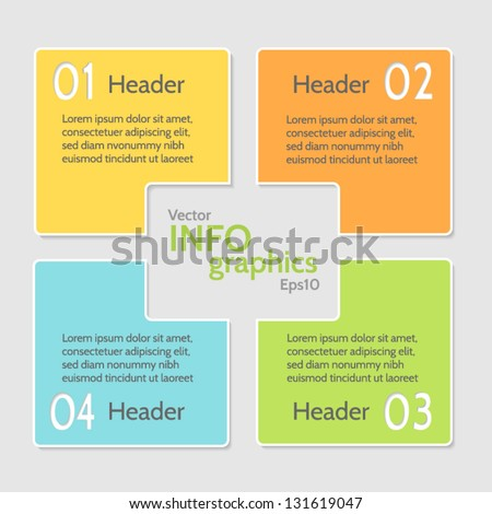 Abstract numbered banners. Progress option background. Vector illustration.Can be used for business presentation, info graphics, web-site or business report. - stock vector