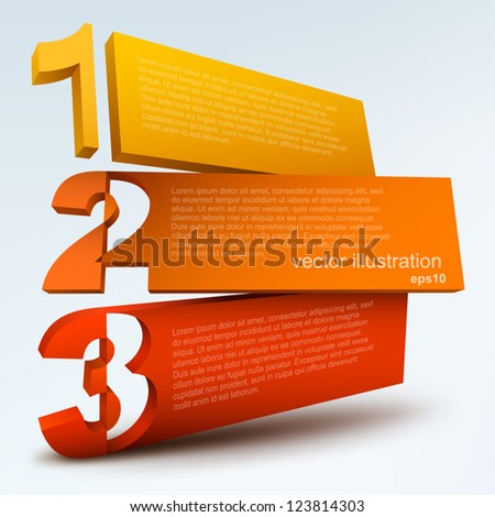 Abstract numbered blanks - stock vector