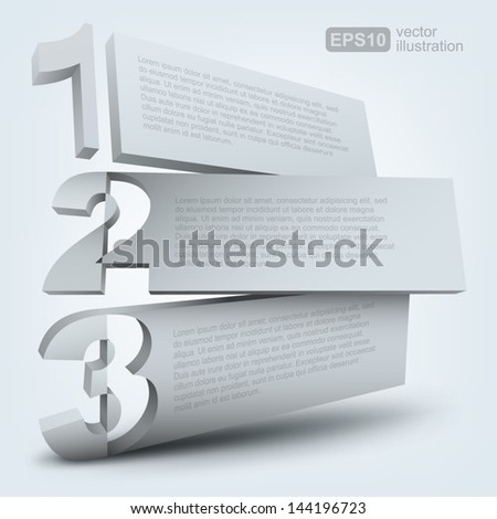 Abstract numbered boards - stock vector