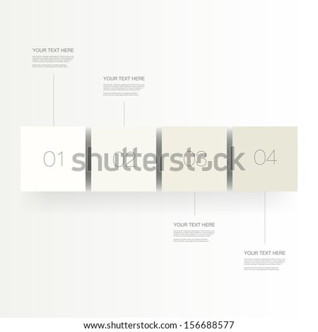 Abstract numbered infographic cubes design with your text and thin lines Eps 10 vector illustration - stock vector