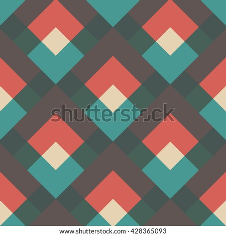 abstract oblique retro pattern, vintage style - stock vector