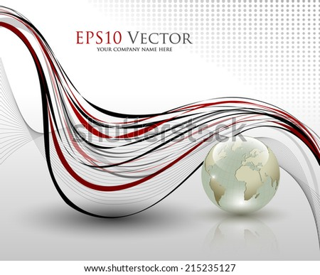Abstract office composition - vector illustration - stock vector