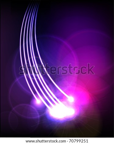 Abstract Optical Fibers - stock vector